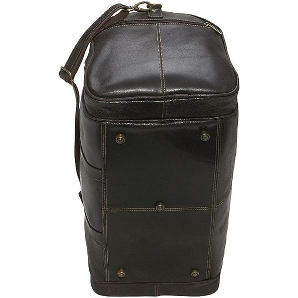 Distressed Leather Duffel Bag for Men Bottom