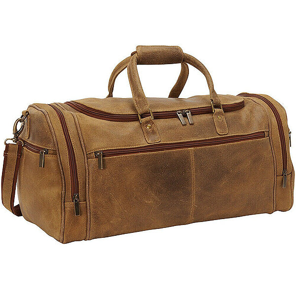 Distressed Leather Duffel Bag for Men