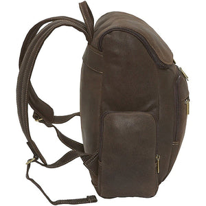 Distressed Leather Laptop Backpack for Men for 15 Inch Laptops Side