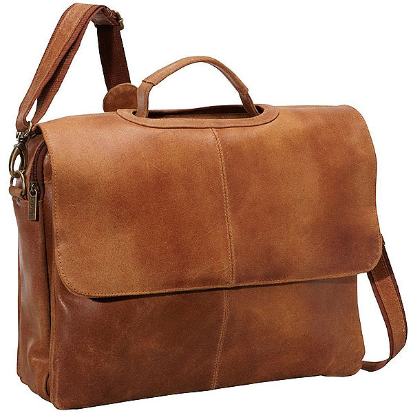 Distressed Leather Laptop Bag for Men