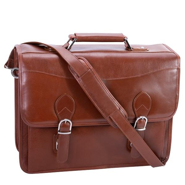 The Belvedere 15 Inch Laptop Leather Messenger Bag Briefcase For Men