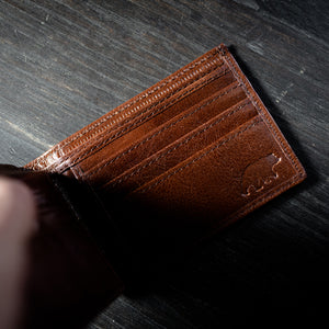 Men's Bifold Top Grain Leather Wallet Zoomed