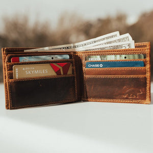 Men's Bifold Top Grain Leather Wallet