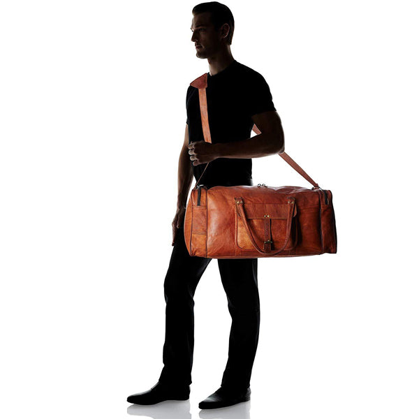Size Leather Duffel Bags for Men 2020