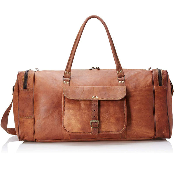 Full Grain Leather Duffel Bag