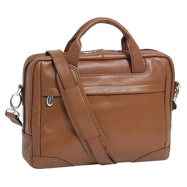 The Bridgeport 17 Inch Laptop Leather Messenger Bag Briefcase For Men