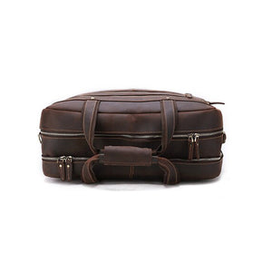 Men's Leather Briefcase Bag for 17 Inch Laptop Computers Top