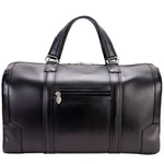 Men's Leather Carry On Luggage Duffel Bag Black Back