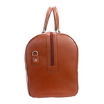 Men's Leather Carry On Luggage Duffel Bag Brown End