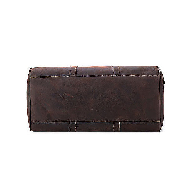 The Duffel Men's Leather Duffel Bag Bottom