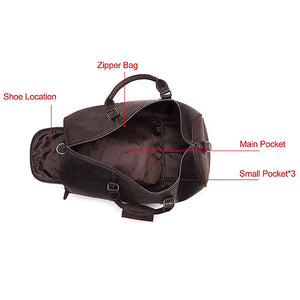 The Duffel Men's Leather Duffel Bag Inside