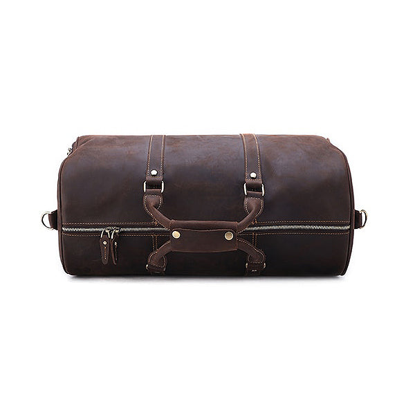 The Duffel Men's Leather Duffel Bag Top