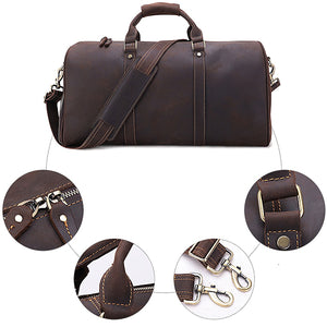 The Duffel Men's Leather Duffel Bag Zoomed
