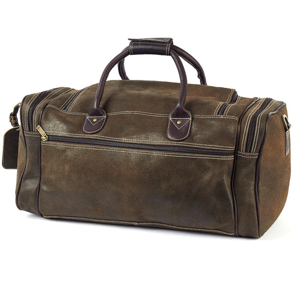 22 Inch Leather Duffel Bag for Men for Work Trips Distressed Backj