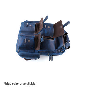 Men's Leather Backpack for 15 Inch Laptop Computers for Men and Women Open Flat