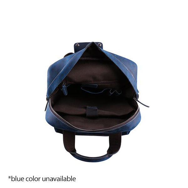Men's Leather Backpack for 15 Inch Laptop Computers for Men and Women Open