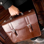 The Flournoy 15 Inch Laptop Leather Messenger Bag Briefcase For Men