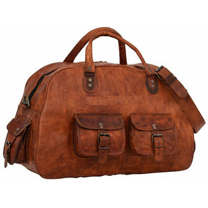 Leather Duffel Gym Bag for Men