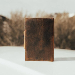 The Journal - Men's Top Grain Leather Diary Journal Back
