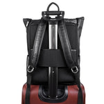 Leather Laptop Backpack for Women & Men - Brown and Black Leather Black Suitcase