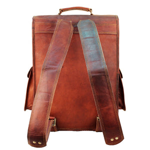 Leather Laptop Backpack for 15 Inch Laptops for Men and Women