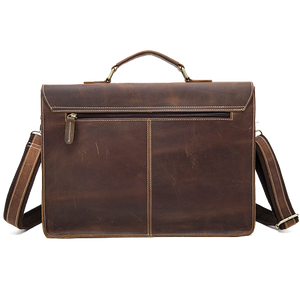 Leather Laptop Messenger Bag for Men - Vintage Shoulder Satchel
