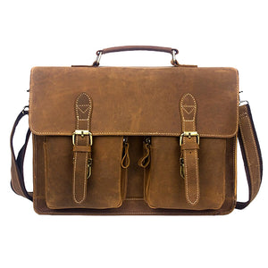 The Pack The Real Leather Company Leather Messenger Bag for Men