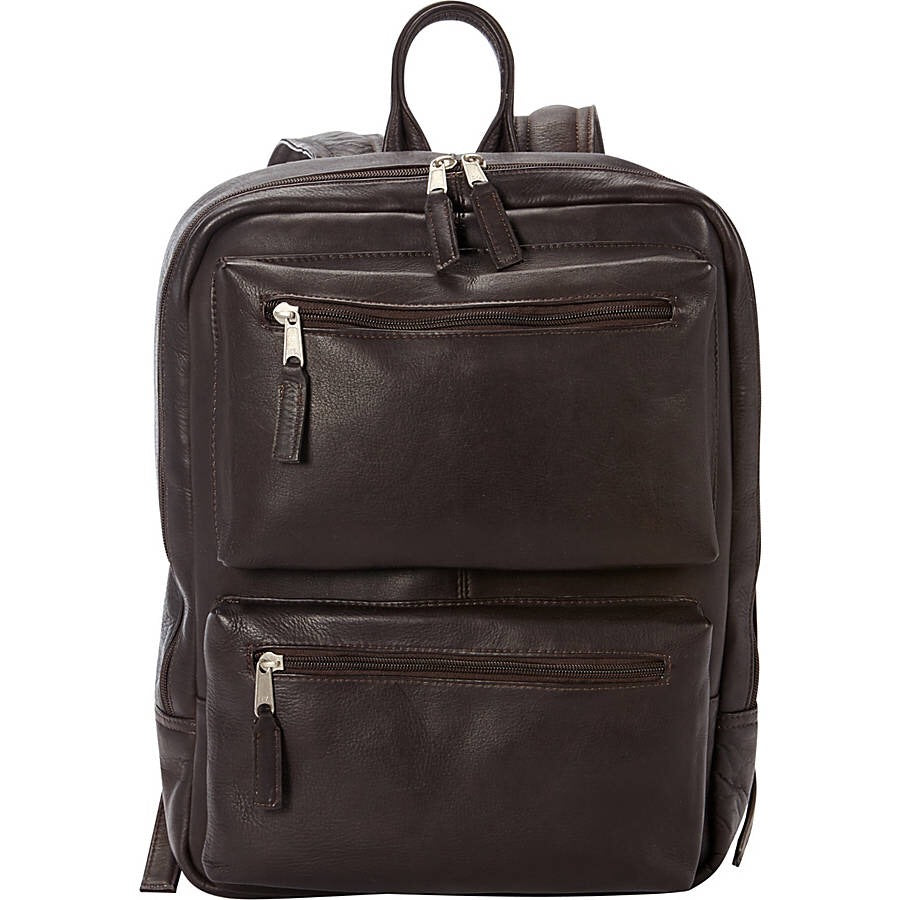 Full Grain Leather Laptop Backpack for 15 Inch Laptops Brown