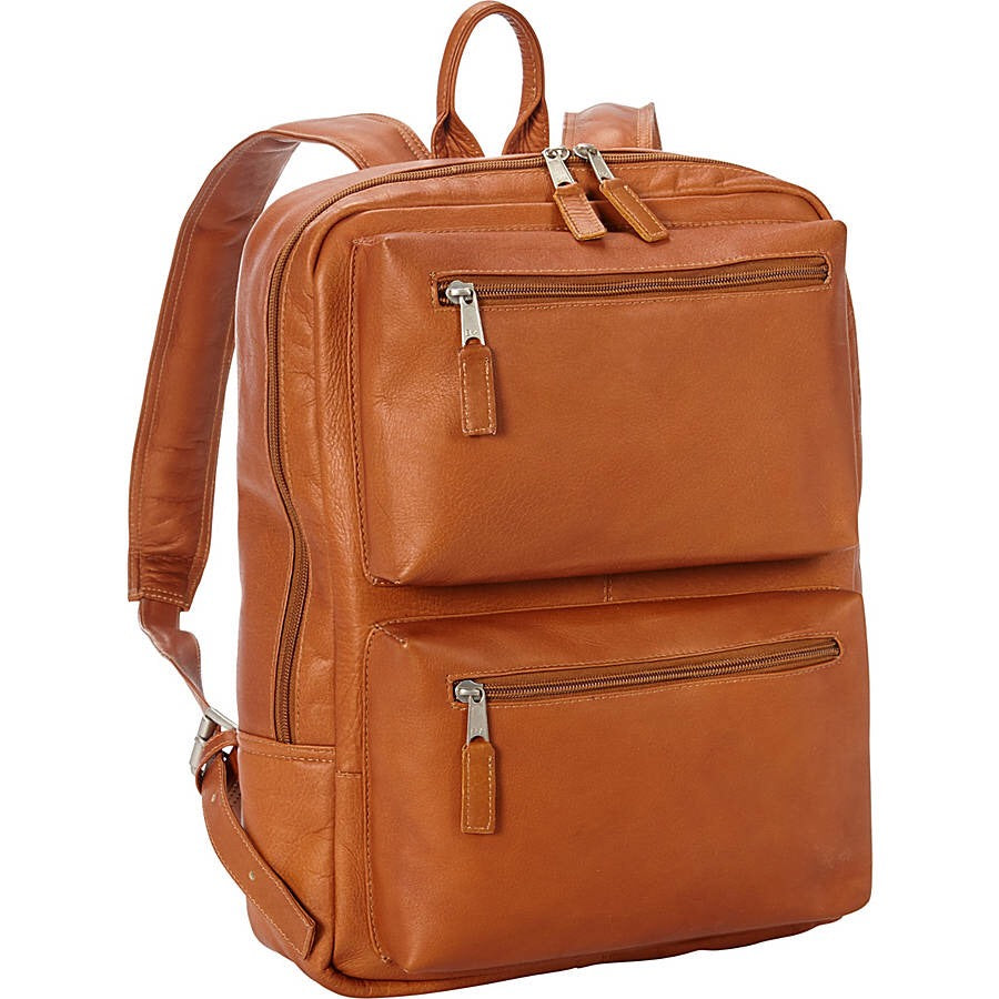 Full Grain Leather Laptop Backpack for 15 Inch Laptops Tan