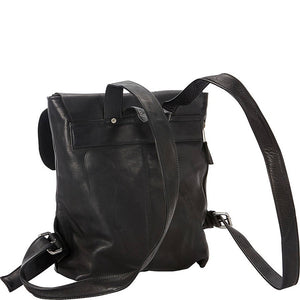 Leather Backpack for 13 Inch Laptops for Women & Men Back Black