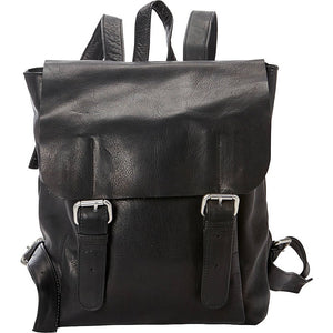 Leather Backpack for 13 Inch Laptops for Women & Men Black Front