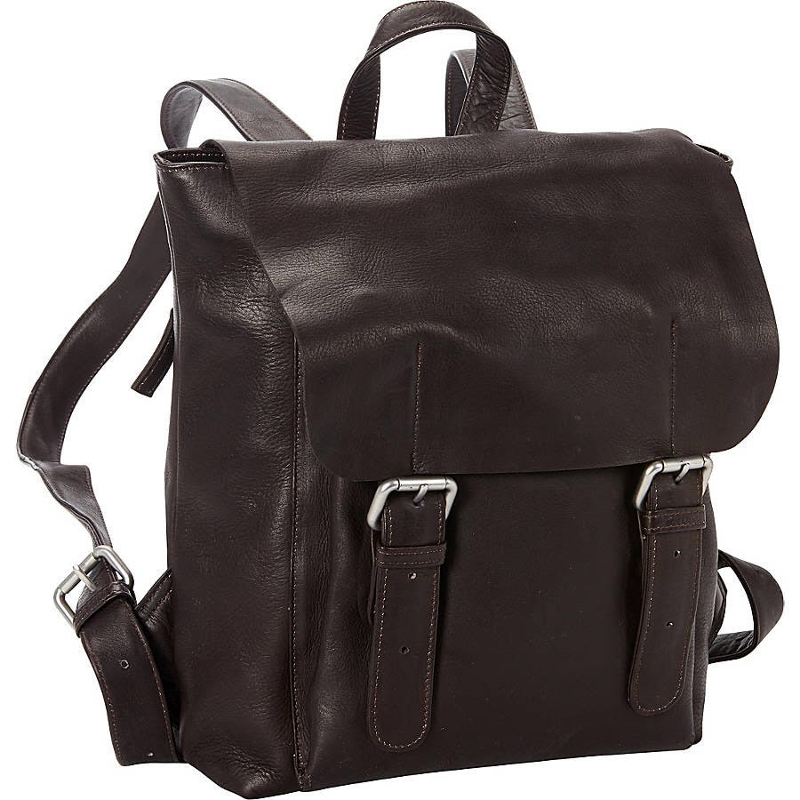 Leather Backpack for 13 Inch Laptops for Women & Men Brown