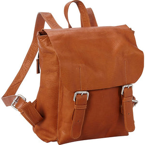 Leather Backpack for 13 Inch Laptops for Women & Men Tan