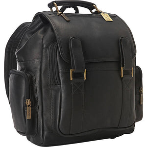 Leather Backpack for Women & Men for 15 Inch Laptops Tan Black