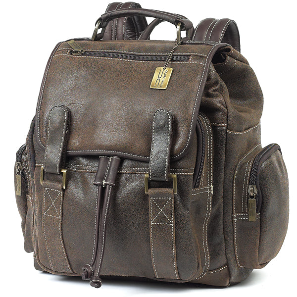 Leather Backpack for Women & Men for 15 Inch Laptops Rustic