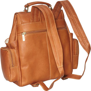 Leather Backpack for Women & Men for 15 Inch Laptops Tan Back