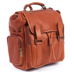 Leather Backpack for Women & Men for 15 Inch Laptops Tan 2