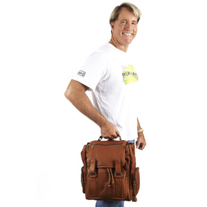 Leather Backpack for Women & Men for 15 Inch Laptops Tan Man Styled