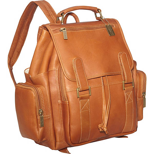 Leather Backpack for Women & Men for 15 Inch Laptops Tan