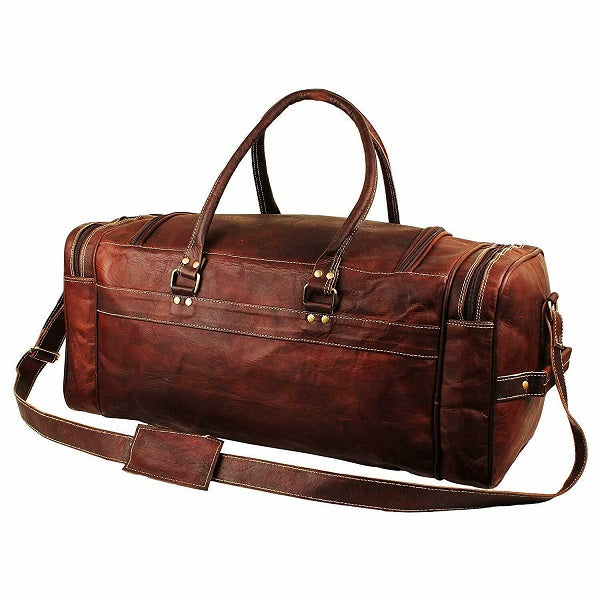 Leather Duffel Bag for Men - Full Grain Leather 24 Inch Duffle Bag Back