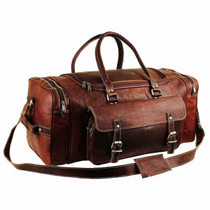 Leather Duffel Bag for Men - Full Grain Leather 24 Inch Duffle Bag