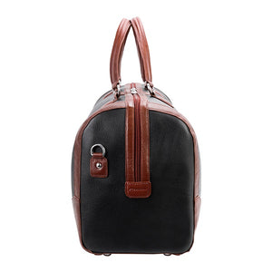 Men's Two Tone Leather Duffel Bag Black End