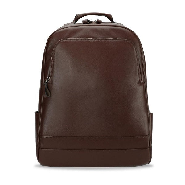 Leather 13 Inch Laptop Backpack for Men - Top Grain Cowhide Brown