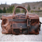 Men's Buffalo Leather Duffel Bag - Weekend Bag for Travel
