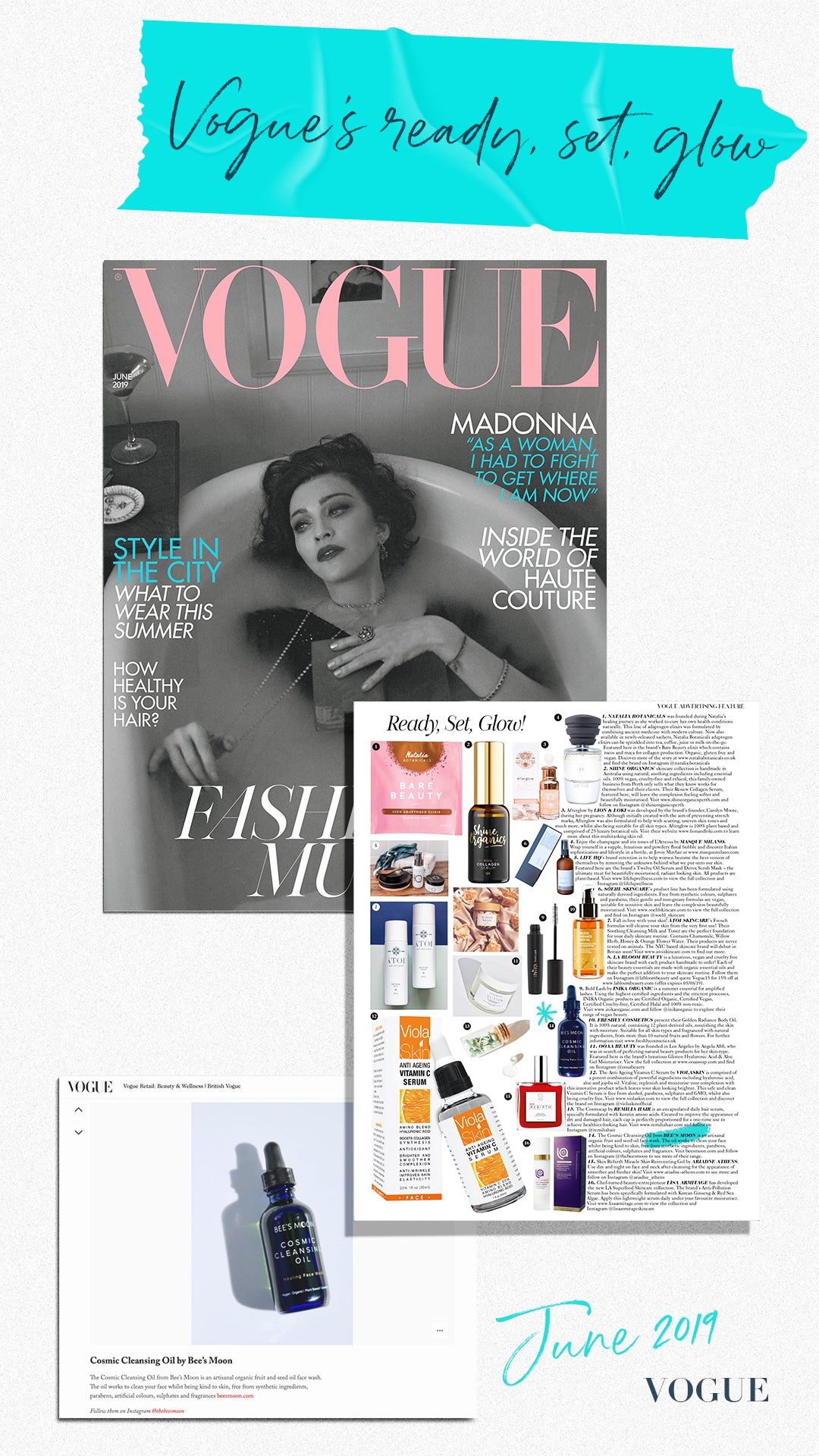 VOGUE and Bee's Moon June 2019 Issue with Madonna