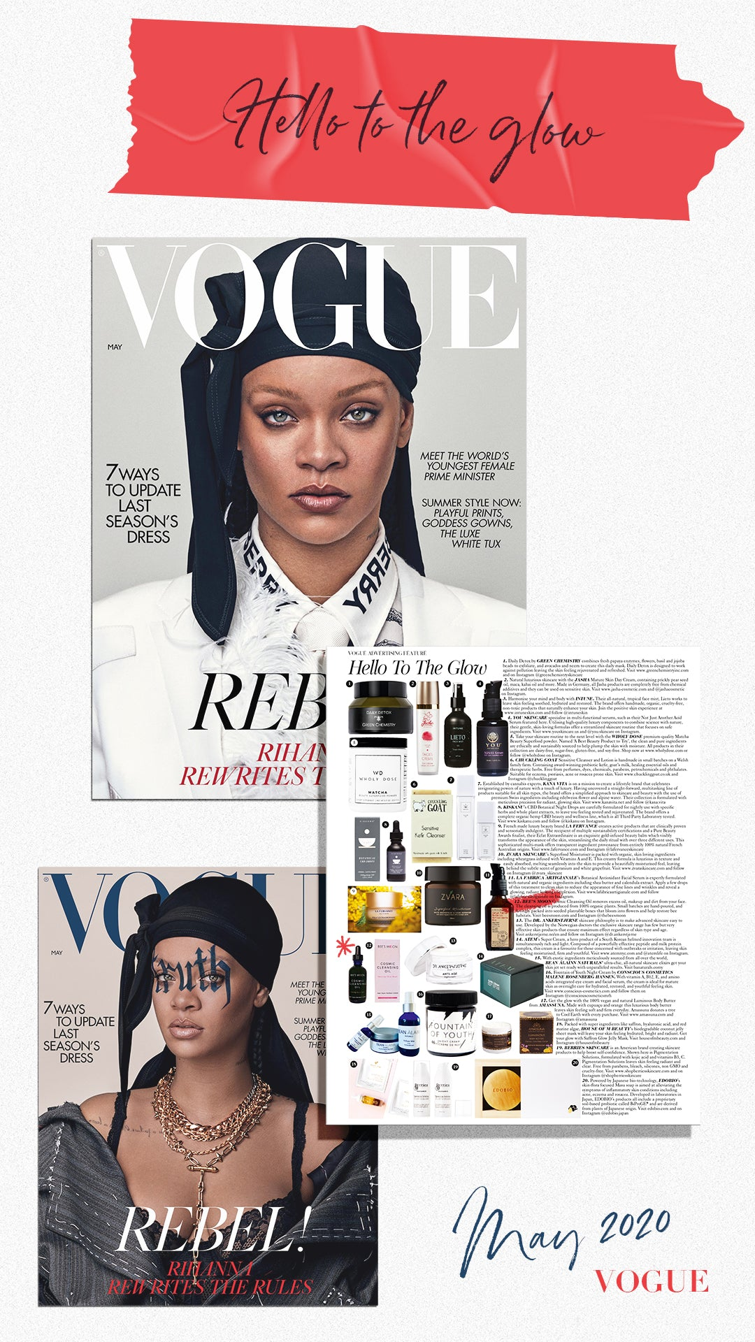 May 2020 Vogue feature Hello To The Glow Cosmic Cleansing Oil