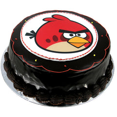 Angry Birds Red Bird cake - Ganache