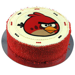 Angry Birds Red Bird cake - Buttercream