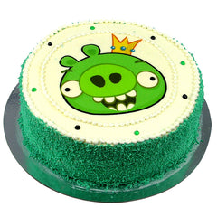 Angry Birds Green Pig cake - Buttercream