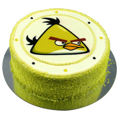 Angry Birds Yellow Bird cake - Buttercream